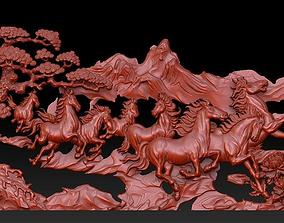 Eight Horses 3D printable model