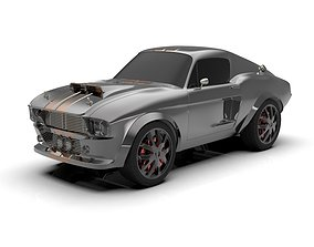 Ford Mustang GT500 1967 cartoon car 3D printable model
