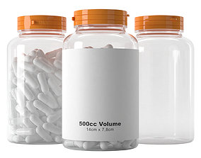 Pills Jar 500cc 3D