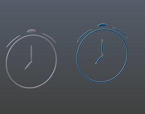 Clock symbols 3D model