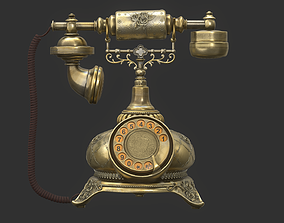 Antique Telephone 3D model PBR