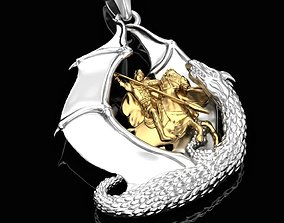 Pendant Kill the Dragon 3D printable model