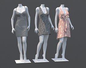 people Mannequin Woman Cloth Model For Shop Vol4 3D