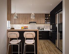 3D Modern Kitchen stove