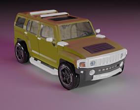 3D asset Hummer H3 Lowpoly