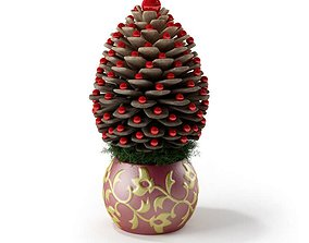 3D model Festive Pinecone Centerpiece