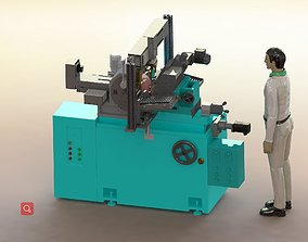 Automatic loading of centerless grinding machine 3D