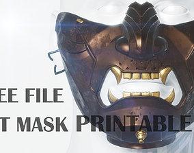 3D print model Ghost of Tsushima Mask Free File