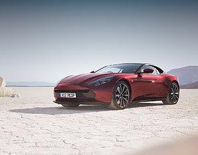 Luxury English sport car unbranded 3D model