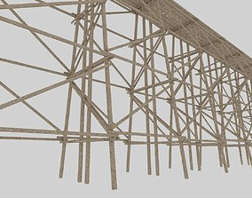 3D model Wood trestle bridge adapted for your games