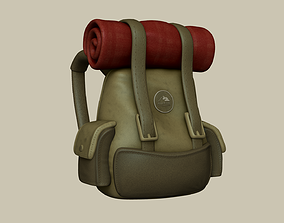 3D asset Camping Adventurer Backpack - Character Costume