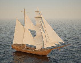 High detalization boat 3D model
