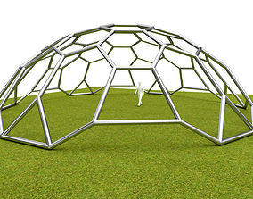 Dome hexagon pattern cover structure architecture 3D asset