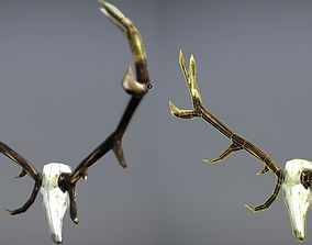 3D asset realtime Low Poly Antlers