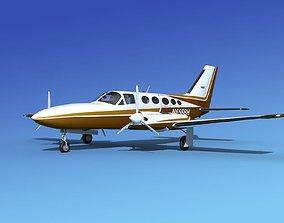 Cessna 414A Chancellor V02 3D model