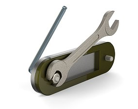 3D Hex Key and Spanner Animation