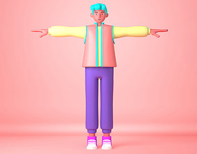 Cartoon Character young man 3D