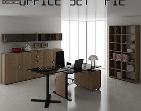 Office Set 3D asset realtime