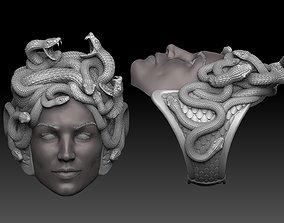 medusa ring 3D print model 3D print model symbol