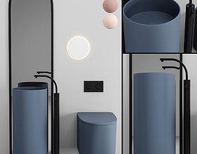 Bathroom Furniture Set bidet 3D model