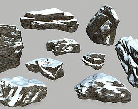 mosy 3D model realtime snow rocks