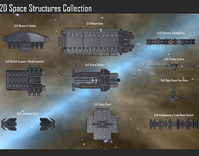 2D Space Structures Collection 3D model