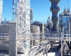 3D model Future City HD