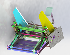 Auto paper feeding machine 3D