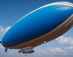 good year blimp 3D asset
