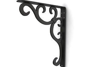 3D model Wrought iron shelf bracket