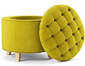 pouf Safavieh Amelia Tufted Storage Ottoman 3D model