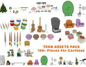 rigged Cartoon Assets Pack