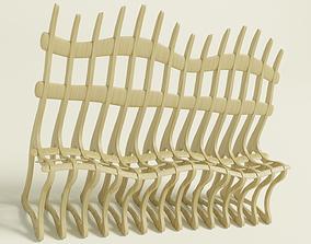 3D asset Parametric curve bench