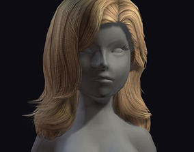 beauty hair 26a 3D model