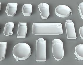 Pools - 17 pieces 3D