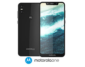 3D model Motorola One Black