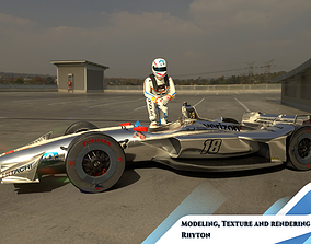 INDYCAR with driver 3D asset
