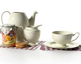3D model Vintage Tea Set cookies
