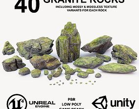 Granite Rock Pack 3D asset low-poly