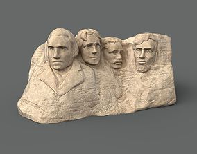 3D asset game-ready Mount Rushmore - low poly