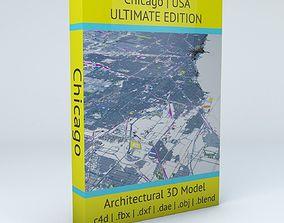 Chicago Streets Buildings Transport Sport 3D model 1