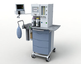 3D model Medical Anesthesia Machine