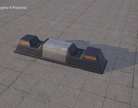 car parking stop bumper 3D asset