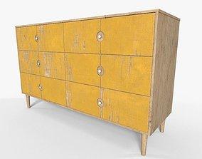 3D asset Wooden Storage Drawers PBR