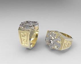 3D print model Romanov Faberge style Signet ring