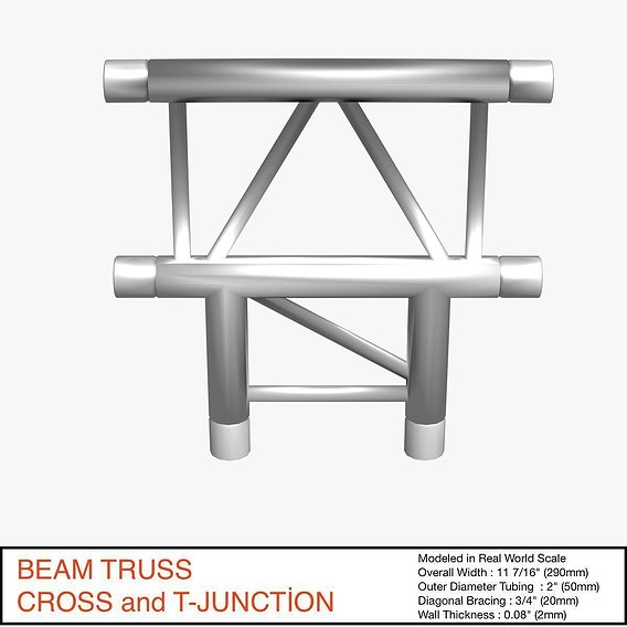 Beam Truss Cross and T Junction 134