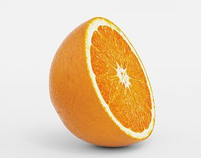 3D Round Orange Slice model