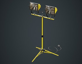 3D model Halogen Work Light 3 Untextured