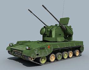 3D model China PGZ-09 Self-propelled antiaircraft gun