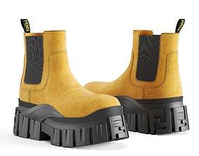 3D model VR / AR ready Fendi Force Chelsea boots